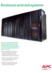 APC Enclosure and rack systems