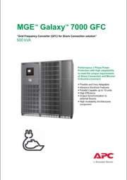 Galaxy 7000 GFC Shore connection converter